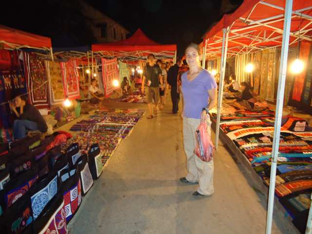 Nightmarket in Luang Prabang Laos